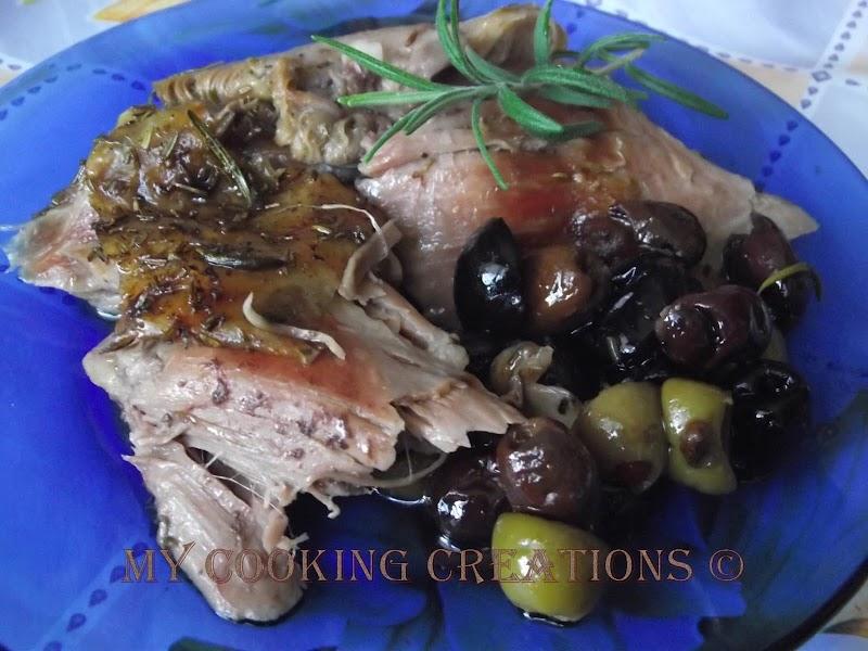 Spalla di agnello con olive e rosmarino * Агнешко бутче с маслини и розмарин