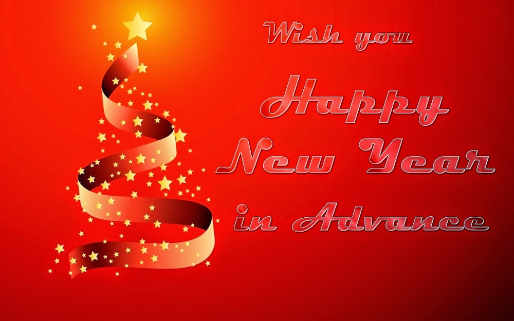 Beautiful Happy New Years Advance Wishes 2015 Cards