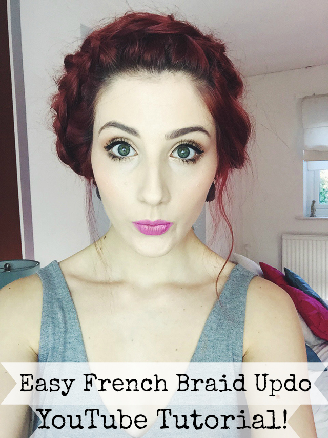 A YouTube tutorial for a quick and easy French braid messy updo