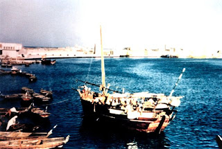 A view of Deira in Dubai (1959) old and rare photos