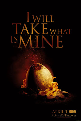 Game of Thrones Season 2 Teaser Television Poster - I Will Take What Is Mine