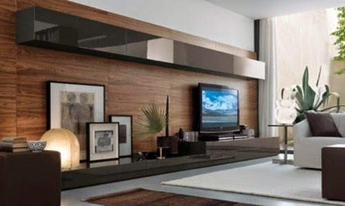 wooden wall for modern living room trends in 2015