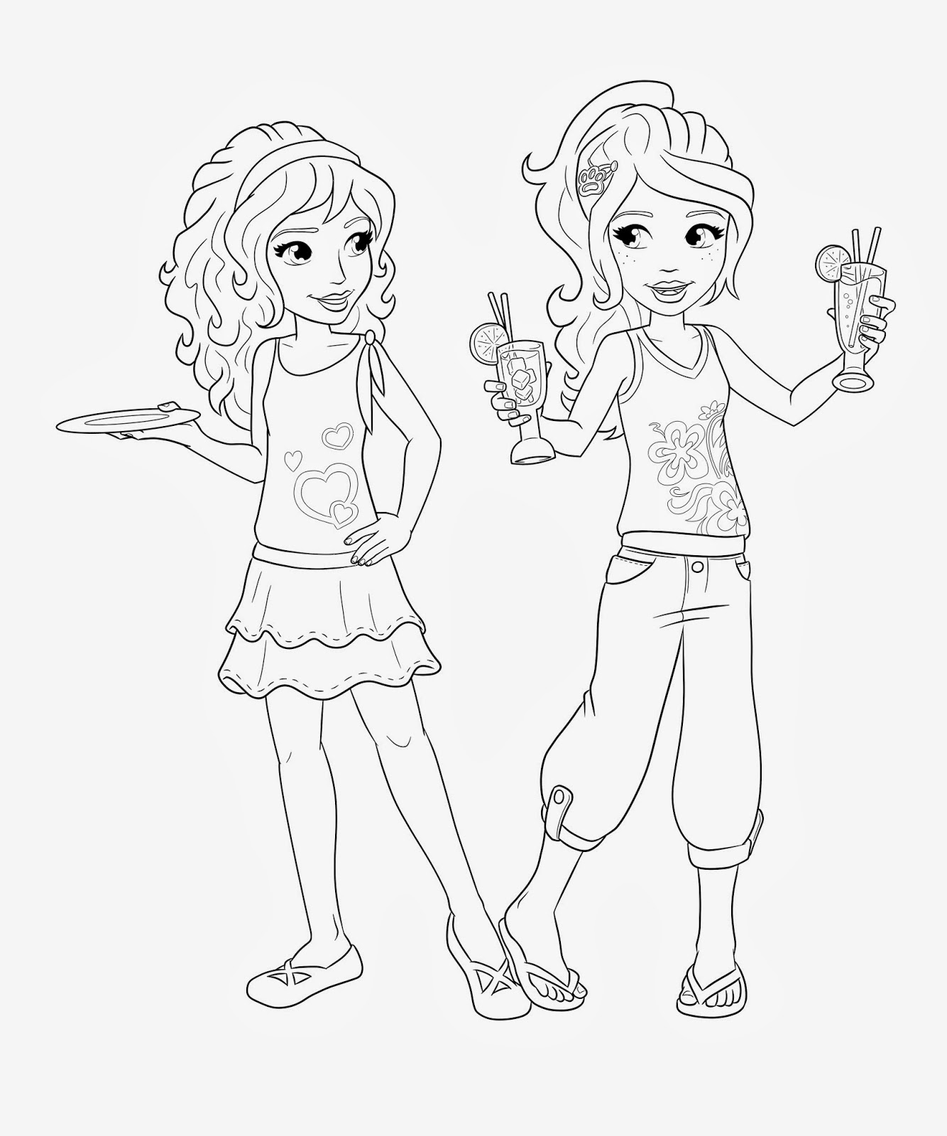 Jesper soelberg lego wear friends illustrations for Coloring pages of lego friends