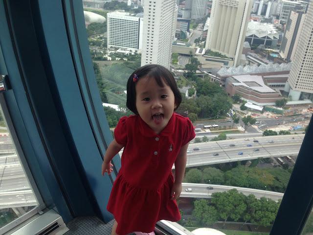 Inside Singapore flyer