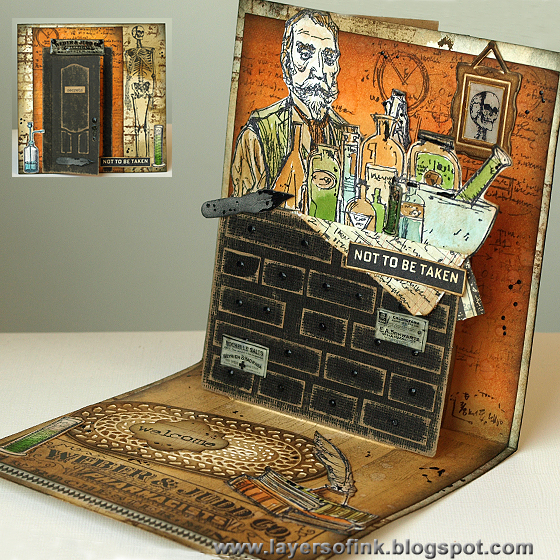 Scary Gifs That Pop Up http://layersofink.blogspot.com/2013/09/scary-apothecary-pop-up-card.html