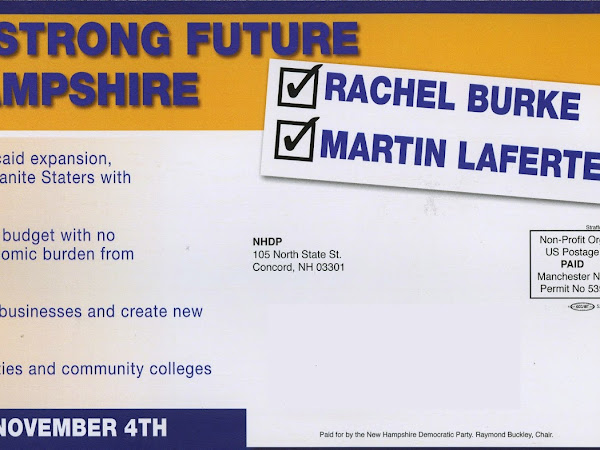 Vote To Put Rachel Burke And Martin Laferte In The NH House
