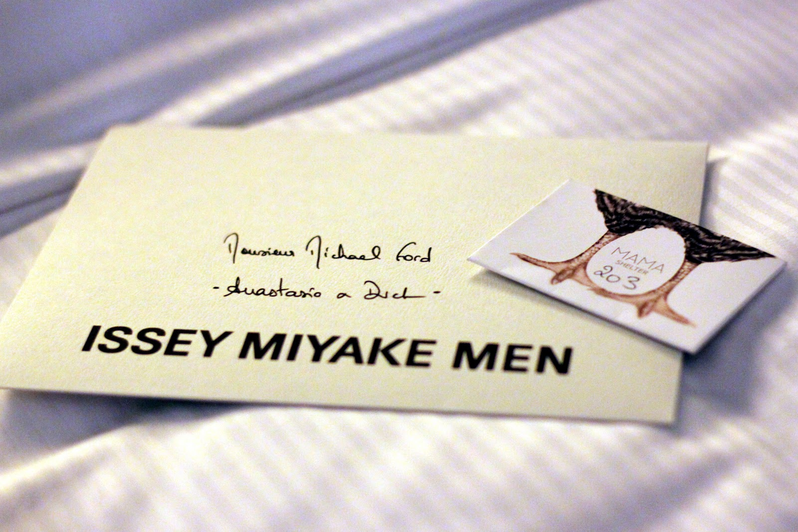 Issey Miyake menswear invitation