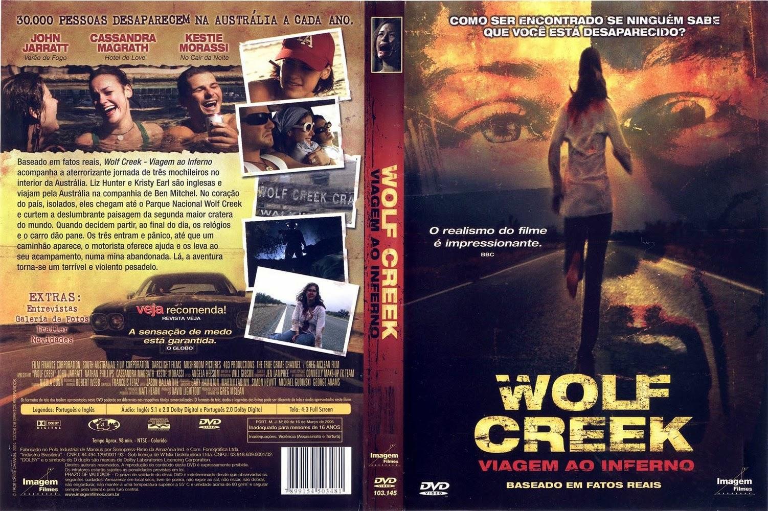 Wolf Creek - Viagem Ao inferno DVD Capa