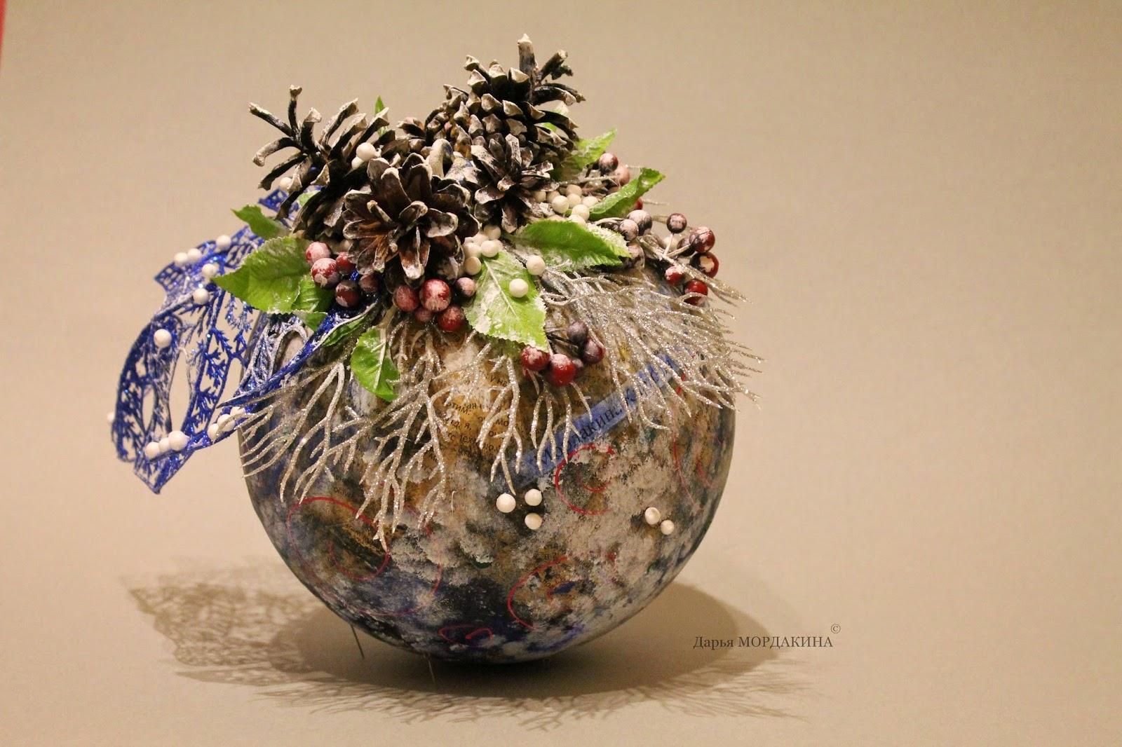 елочный шарик, новый год, зима