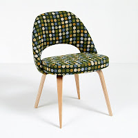 Saarinen DIning Chair with custom fabric
