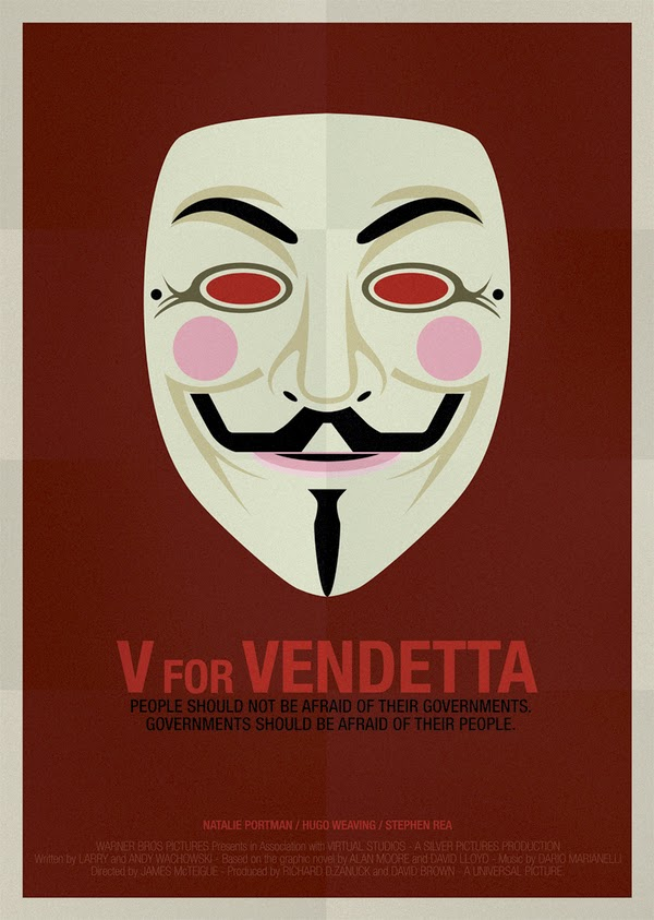 Minimalist Movie Posters V for Vendetta