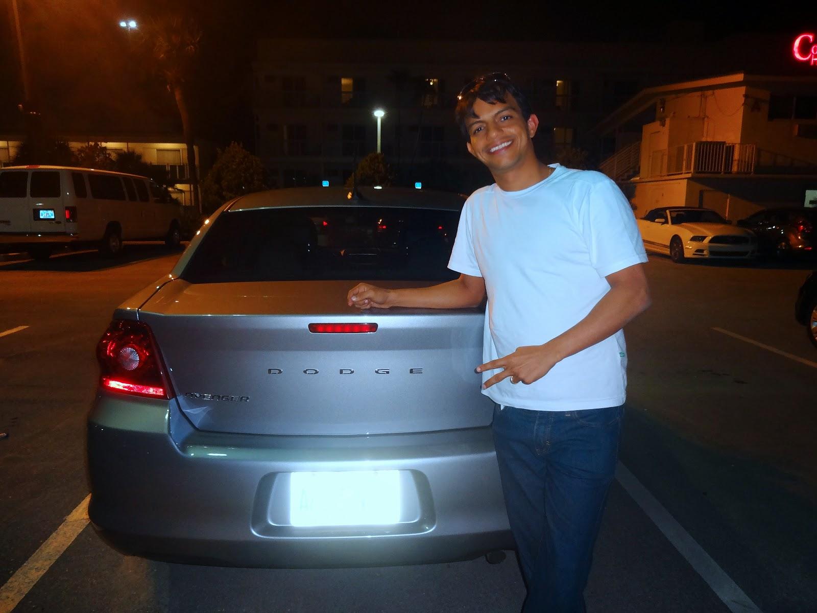 carro alugado em miami - dodge avenger