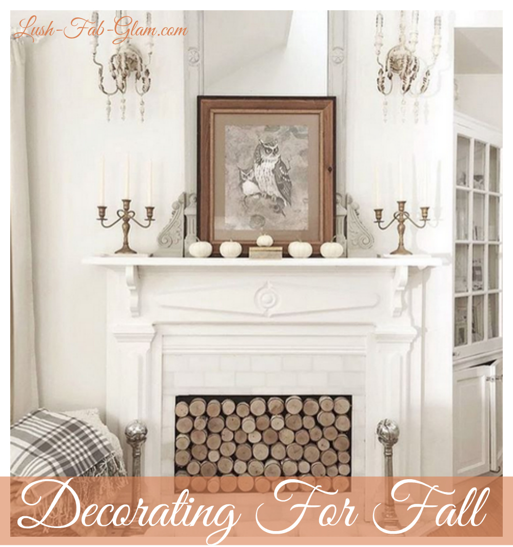 See how to decorate for fall with pretty pumpkins in shades of white, blush, grey, gold and more!