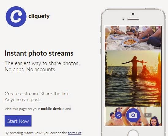 無廣告免註冊的圖片暫存空間,讓大家一起分享照片串流圖床,Cliquefy!