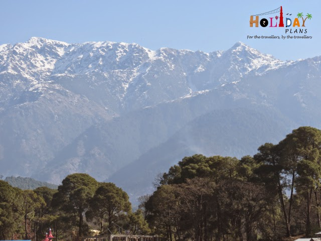 Mountain ranges as seen from Palampur in Himachal Pradesh