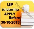 UP Scholarship Application 2013 Post Matric Scholarship Form Download