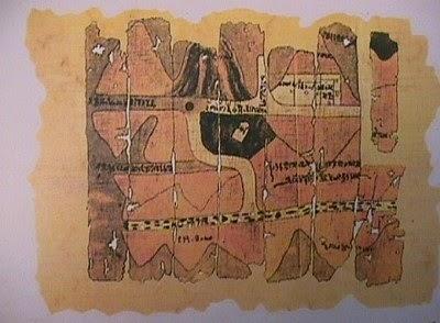 اول خريطة فرعونية