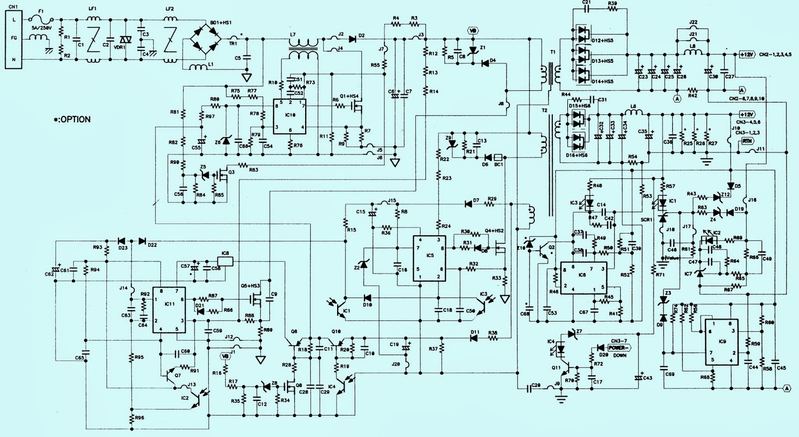 untitled.bmp toshiba 27wl46 power supply [smps] schematic (circuit diagram toshiba motor wiring diagram at edmiracle.co