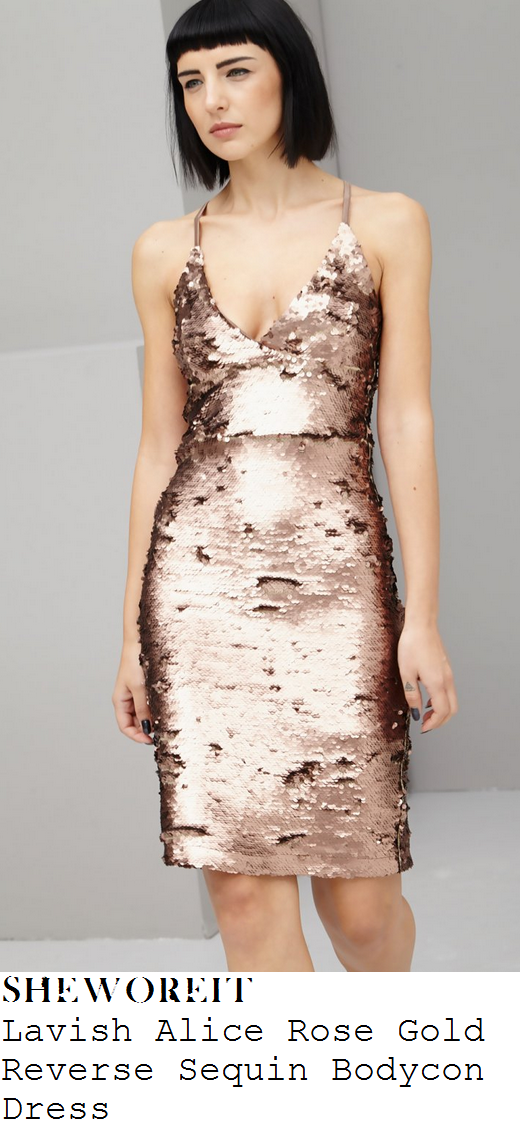 sam-faiers-metallic-rose-gold-sequin-embellished-sleeveless-dress-dubai