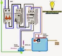 bomba centrifuga esquema electrico monofasica contactor termico boya  http://adf.ly/qJ3Fs