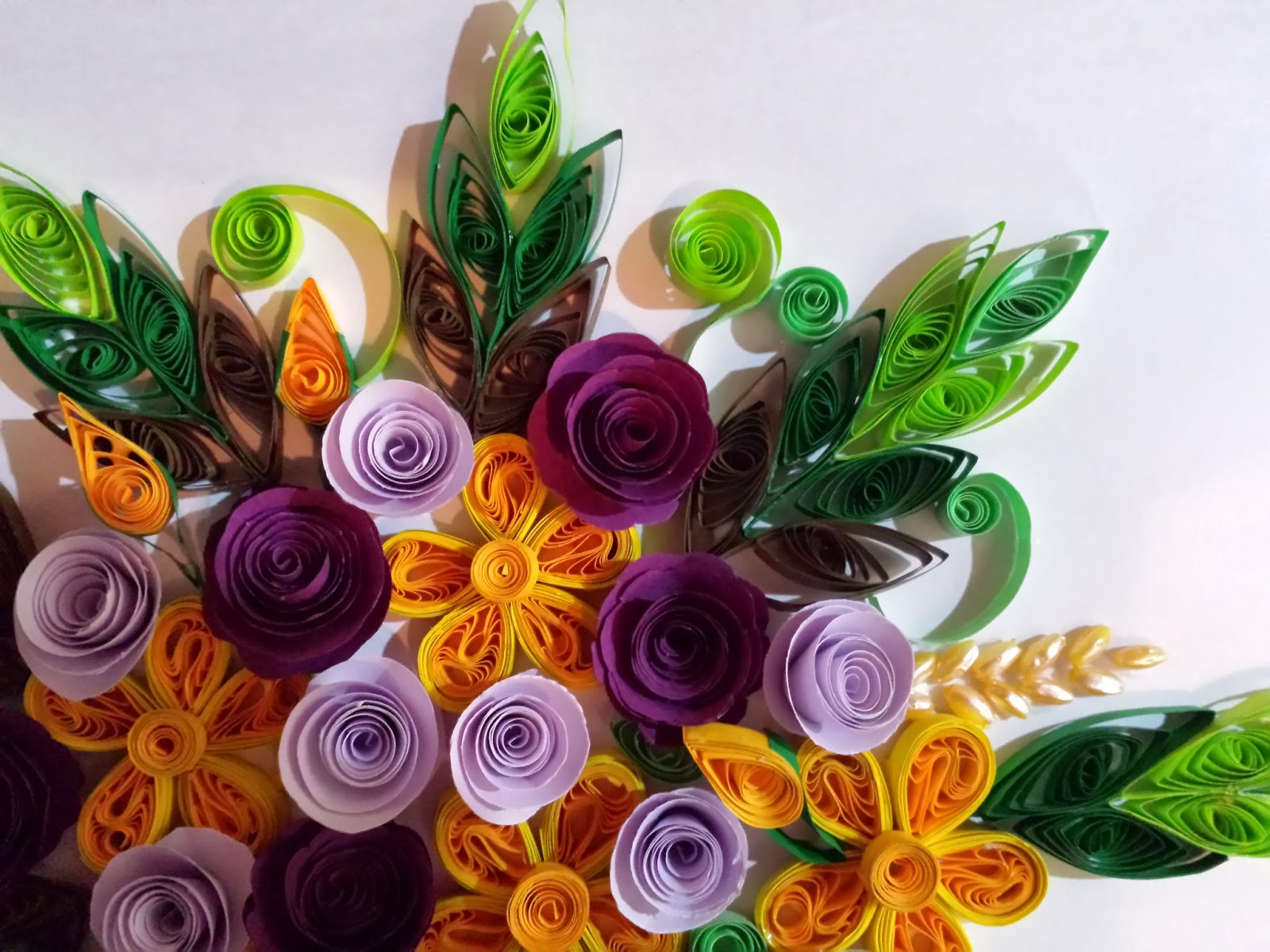 Paper Quilling By Sheri Wall Hanger With Quilled Malaysian Flowers
