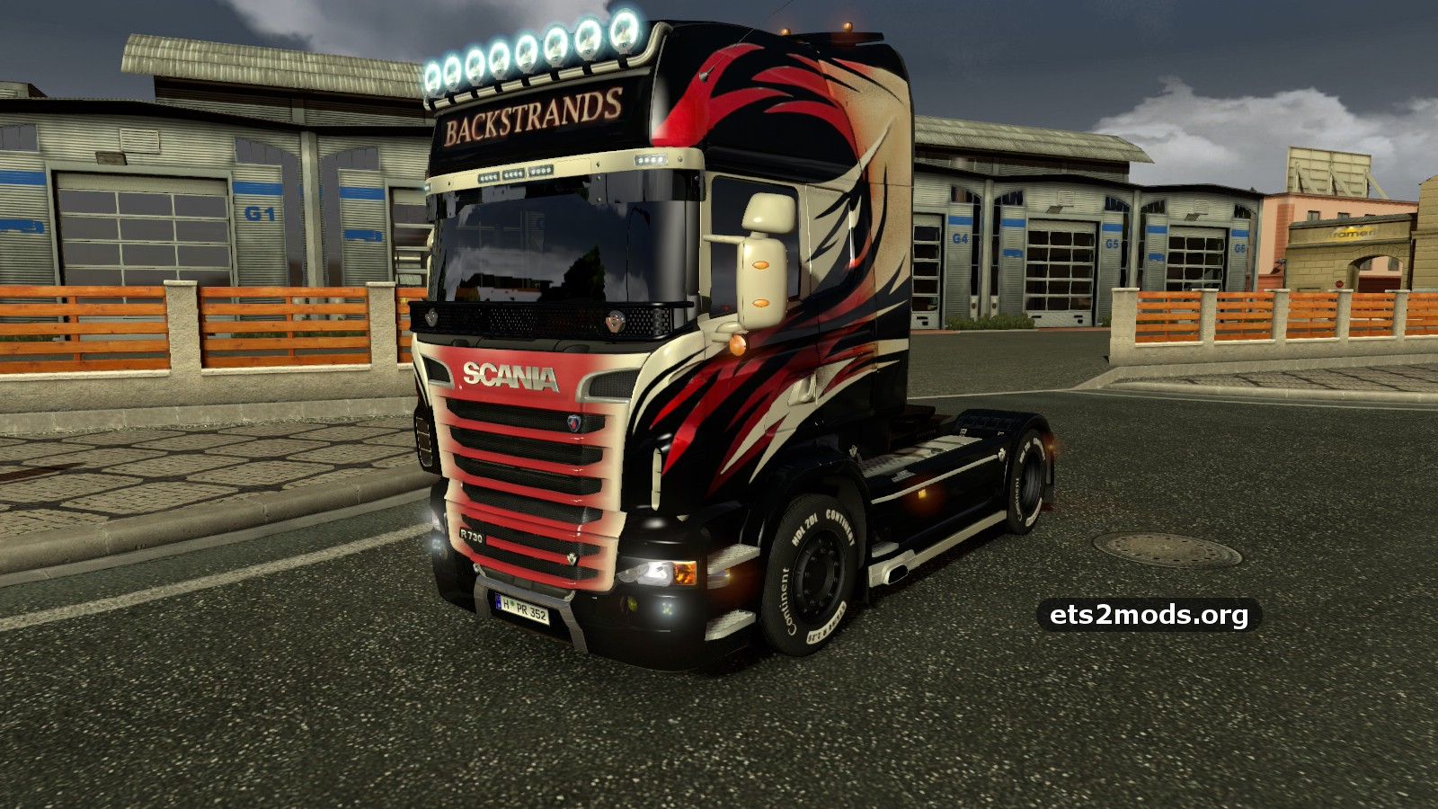 Download scania r backstrands skin mod by ghass72 for euro truck