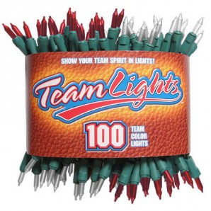 team colored lights