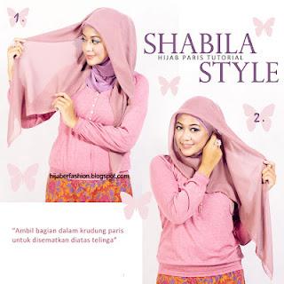 Jilbab Paris dengan Shabila Style