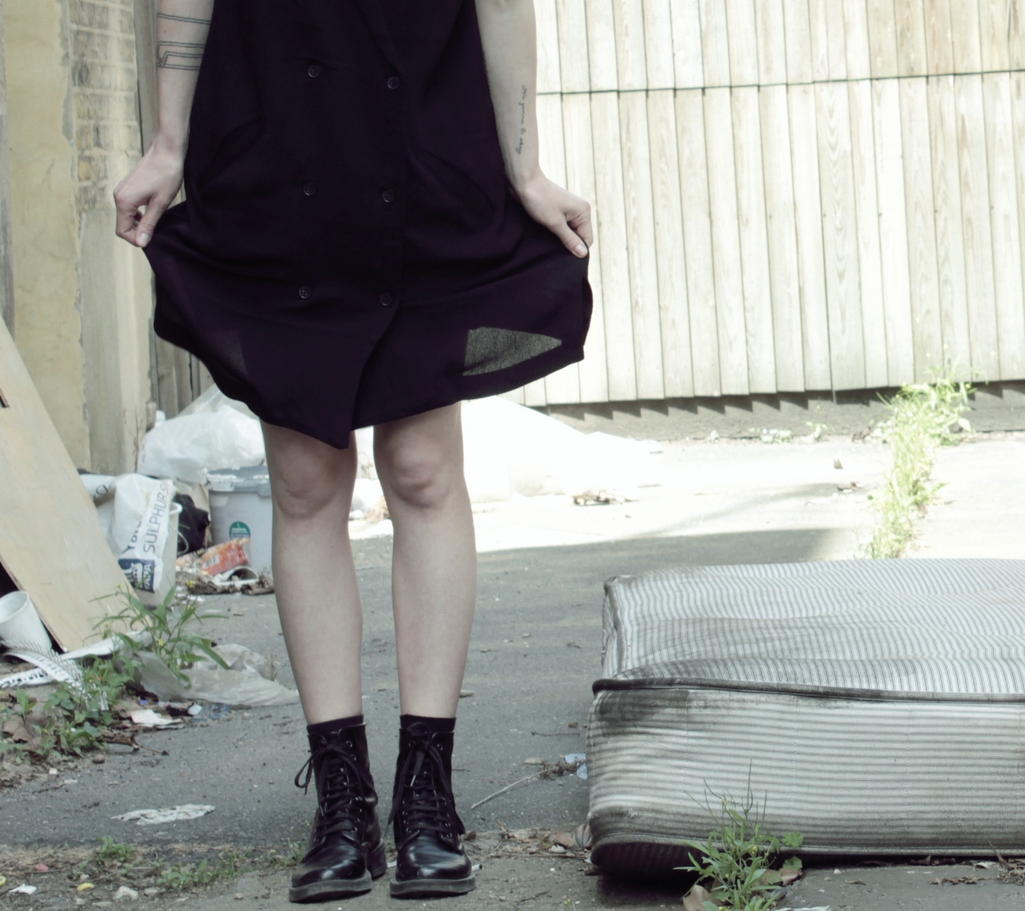 LA ROBE Monki dress Topshop Black boots lexie blush lexieblush.com