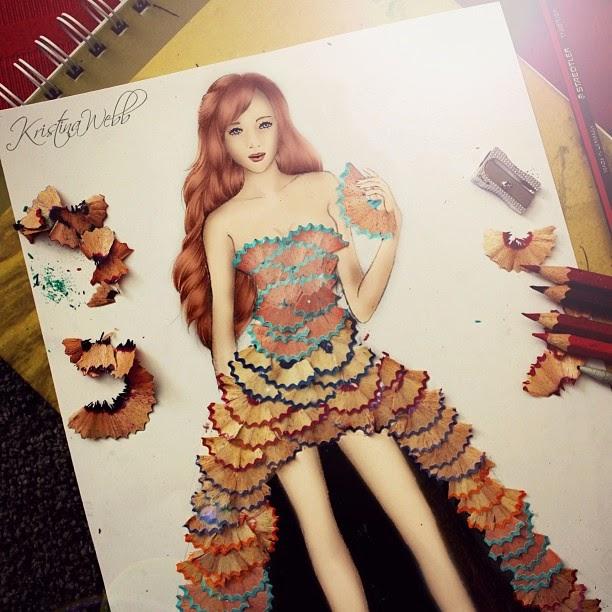 10-Pencil-Dress-Kristina-Webb-Colour-me-Creative-Drawings-www-designstack-co