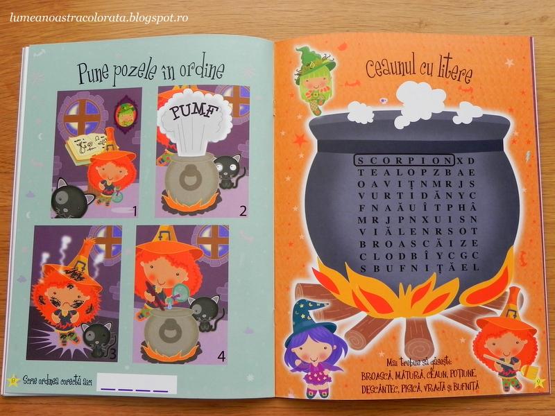 Jocuri și exerciții cu vrăjitoare, editura Girasol