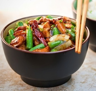 recipe for green beans and chicken with black bean garlic sauce