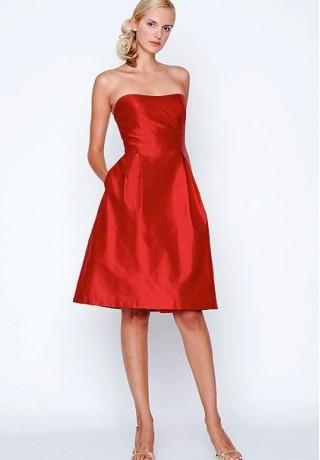 Red Bridemaids Dress