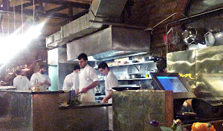 The open kitchen at Dock Kitchen, Portobello Dock, 342/344 Ladbroke Grove, London W10 5BU