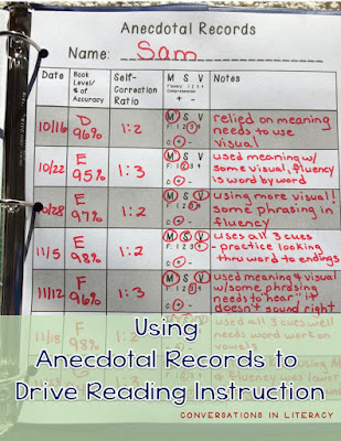 Anecdotal Records for Organizing and Purposeful Planning