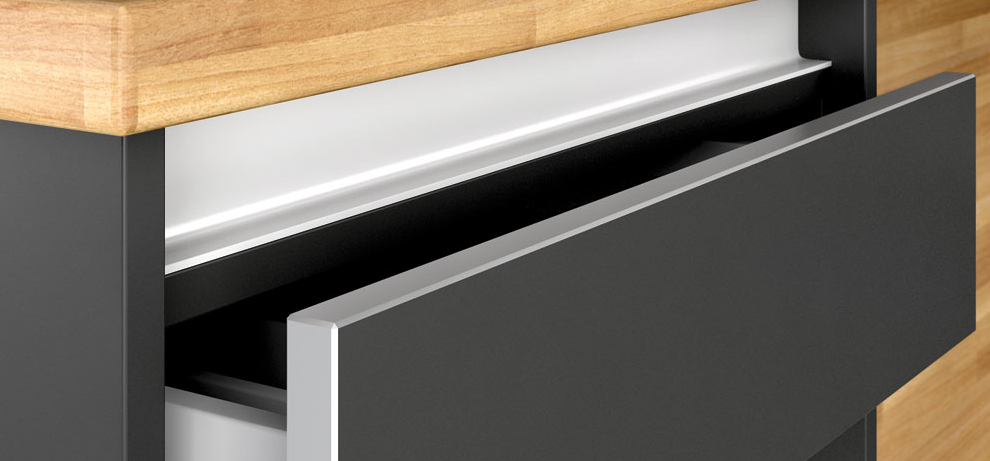 Materiales para cocinas i laminados resistentes y for Cocina de madera antracita