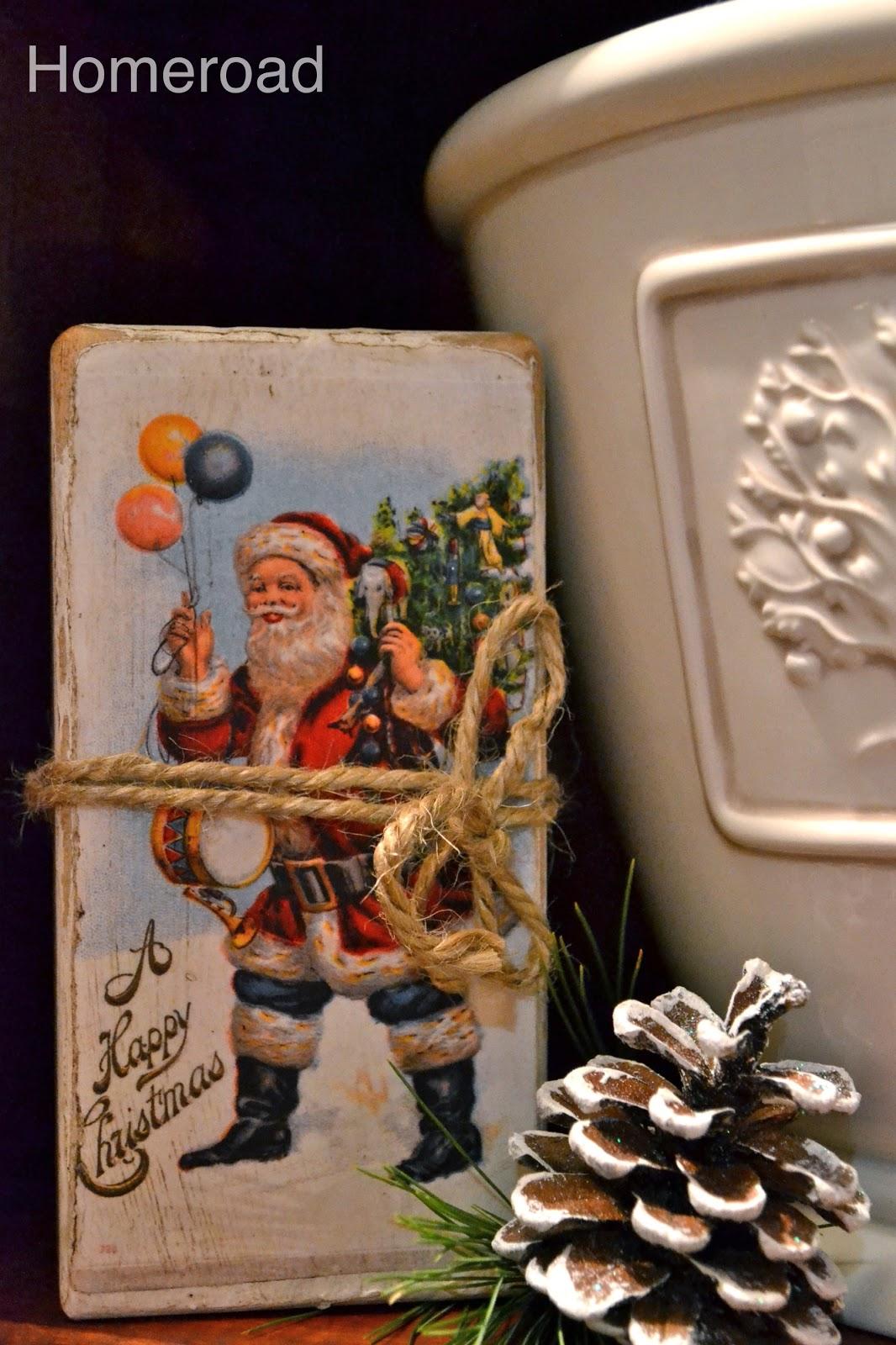 christmas postcard blocks