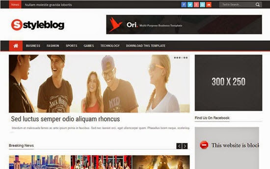 Style Blog Responsive Blogger Template