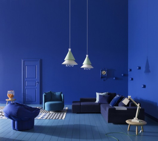Modern Home Designs: Blue Interior Design By Sara Sjogren