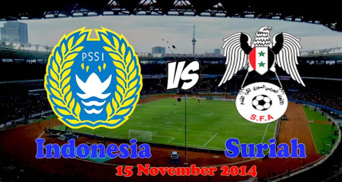 Jadwal Timnas Senior Indonesia vs Suriah 2014
