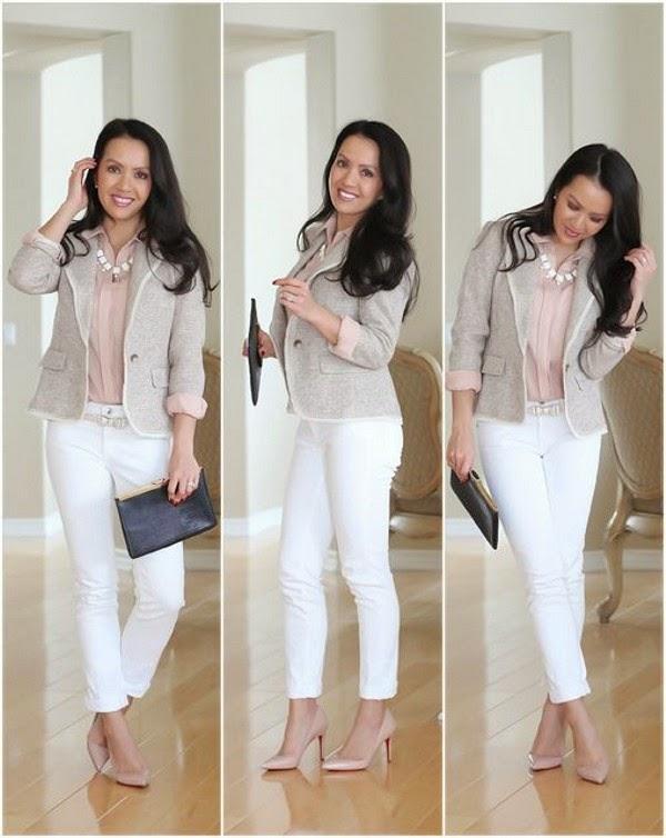 Como usar calça branca no inverno - Uma calça branca = 4 looks Gosto ...