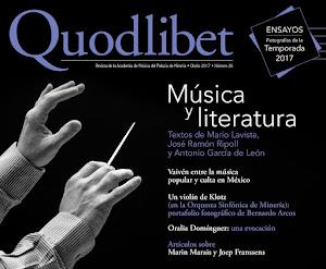 Quodlibet, Otoño de 2017