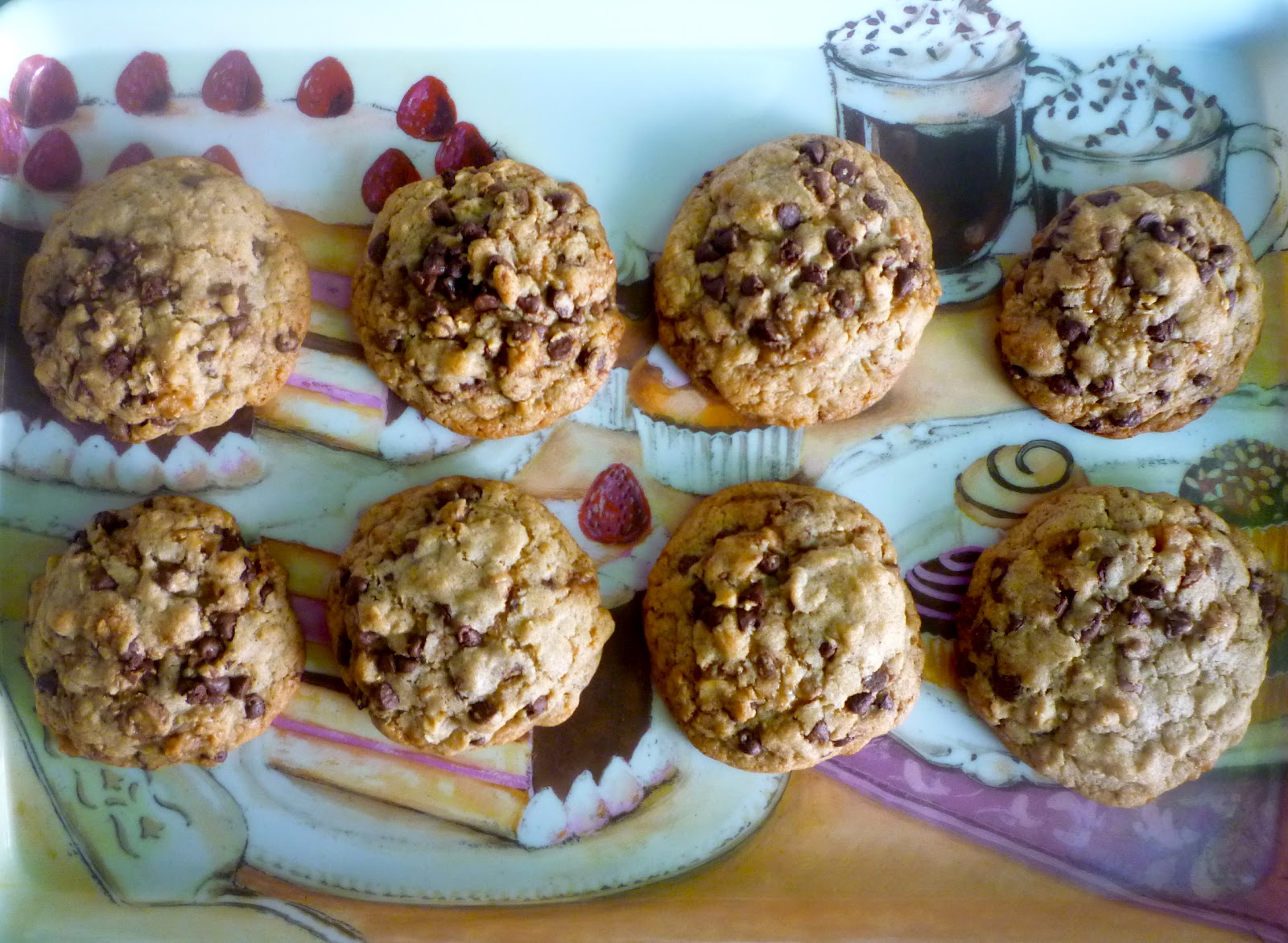 ... Baking in the Barbershop?!: Oatmeal Toffee Chocolate Chip Cookies
