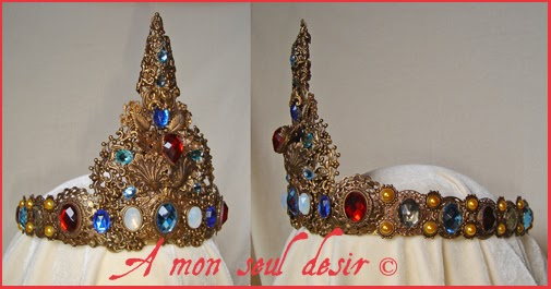 Couronne médiévale / Moyen Age / Bijoux médiévaux renaissance reproduction reconstitution historique / medieval renaissance crown circlet diadem Lady and the Unicorn jewels jewellery