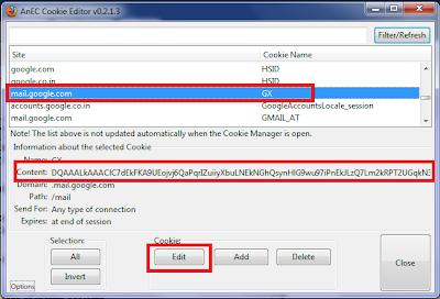 Gmail cookies stealing Edit_cookie