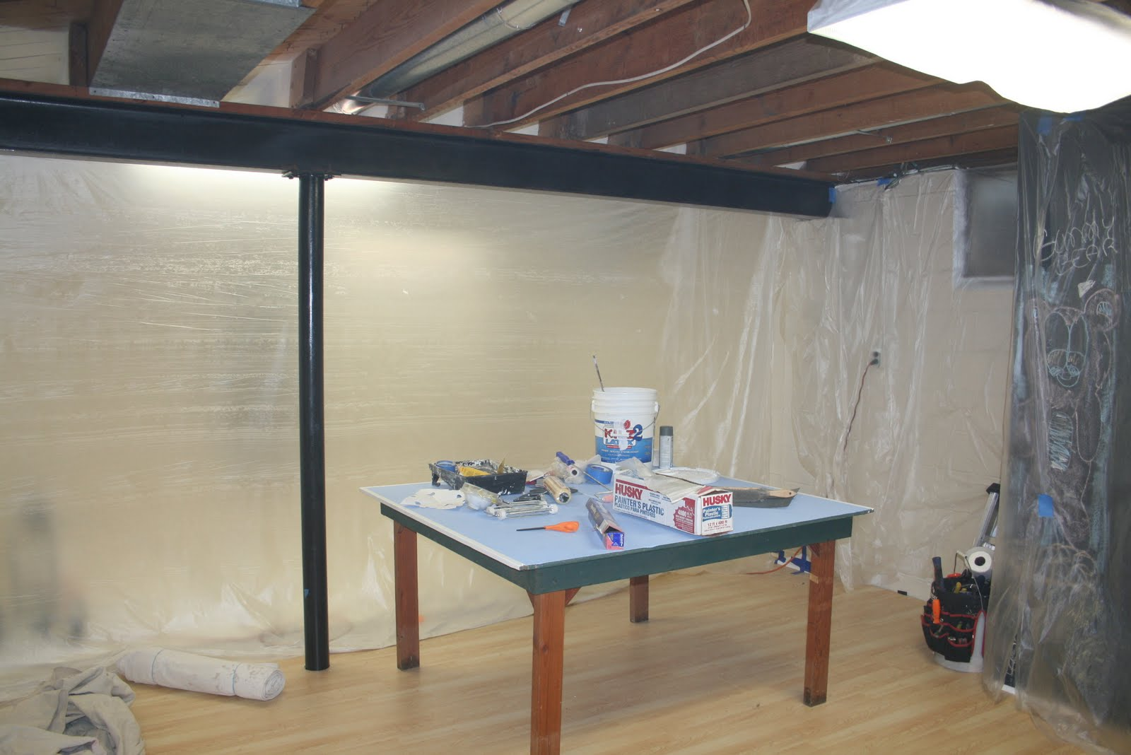 unfinished basement ceiling paint viewing gallery