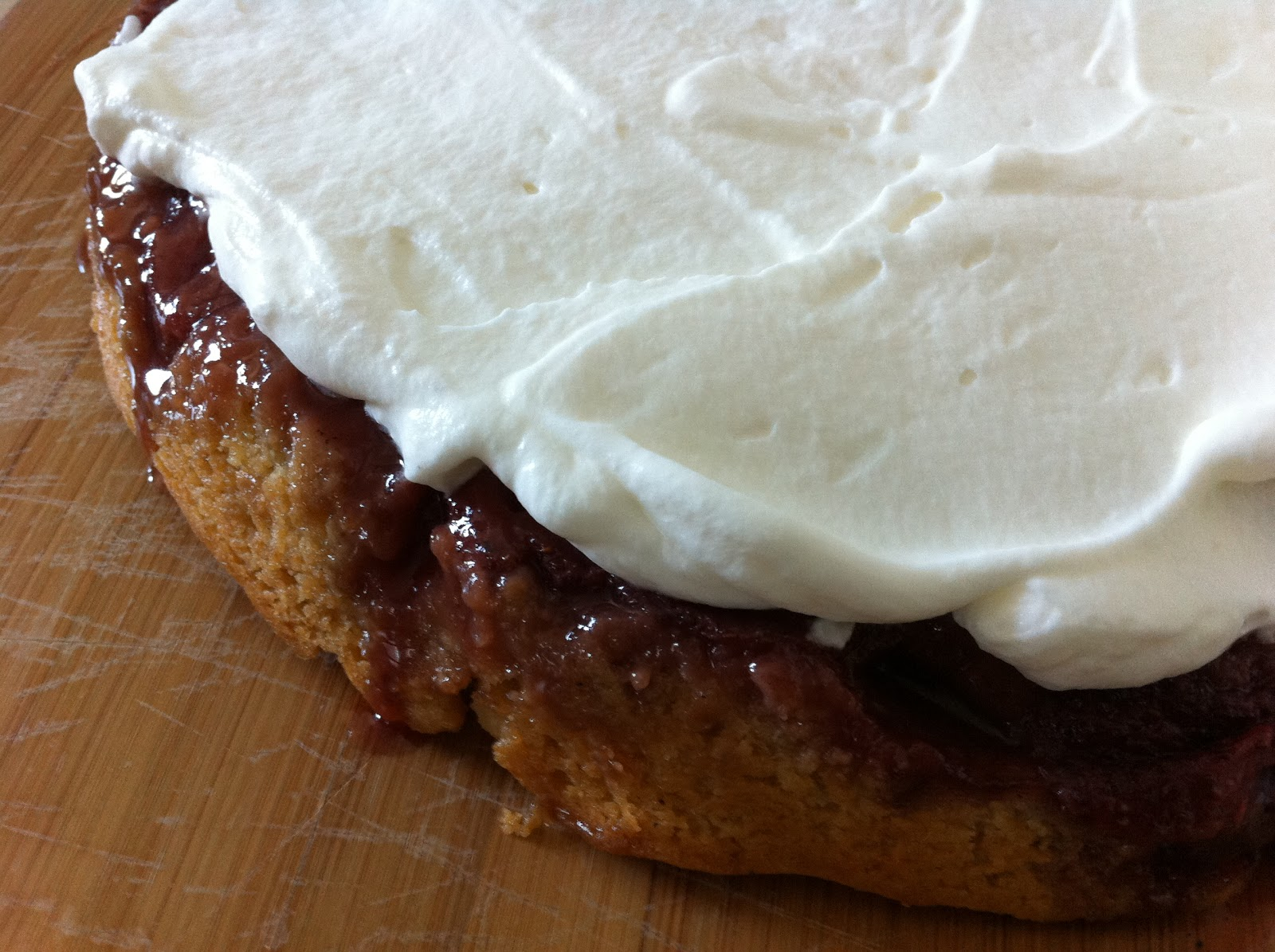 Sharon The Kitchen: Strawberry Upside-Down Cake with Cardamom