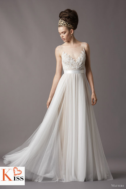 Watters 2013 Spring Lace Tulle Wedding Dresses
