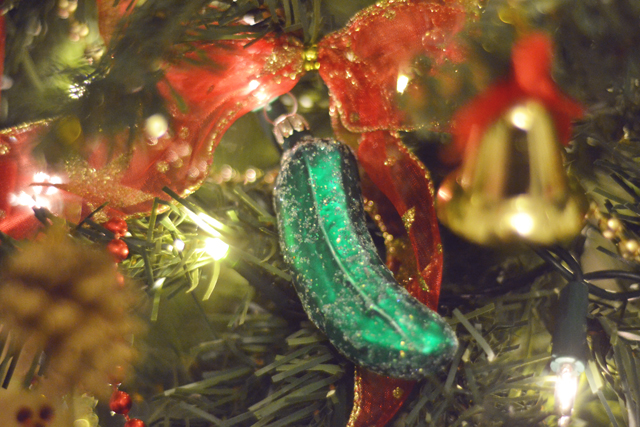 German pickle Christmas decoration