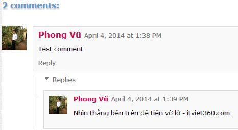Tạo khung comment phân cấp cho Blogger 1